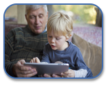 child using ipad, image from http:/learningworksforkids.com/2013/04/top-5-augmentative-and-alternative-communication-aac-apps/
