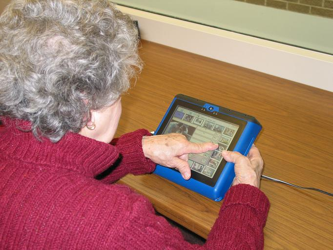 adult using AAC