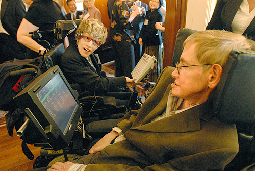 photo of stephen hawking and ana berlowitz